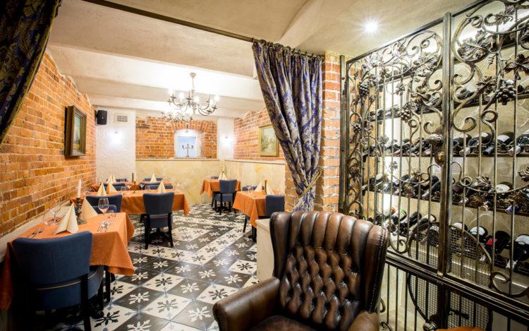 Wystrój sali w Restauracji Poziom